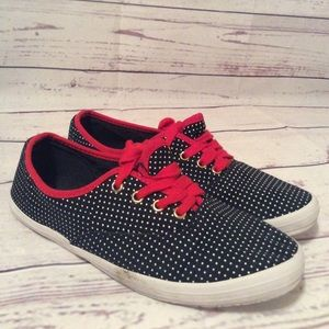 Tommy Hilfiger Women Sneakers Red White Blue Sz 8M